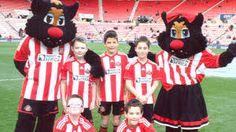 mascots Samson and Delilah of Sunderland FC