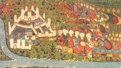 17. századi miniatúra Nándorfehérvár 1456-os ostromáról