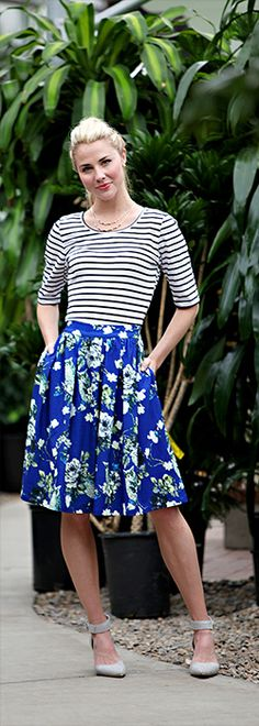 Owl Print Skirt [MSS9202] - $49.99 : Mikarose Boutique, Reinventing Modesty