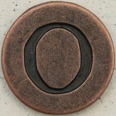 Copper Uppercase Letter O by Leo Reynolds, via Flickr