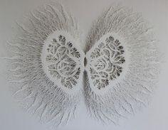 Ingewikkelde hand gesneden kunst van papier