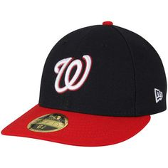 a6a3f8ad817 Washington Nationals New Era Alternate Authentic Collection On-Field Low  Profile 59FIFTY Fitted Hat - Navy Red