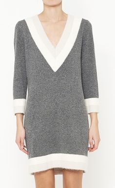 Rag & Bone Grey, White And Grey Dress
