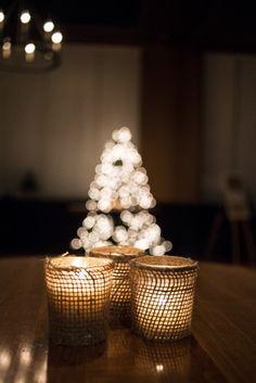 Burlap Votive Candles! BlissDesignandEvents.com #blissdesignandevents #burlap #votivecandles #rustic #christmasparty #christmas #corkfactoryhotel #corkfactory #corkandcap