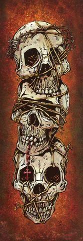 Day of the Dead Artist David Lozeau, The Ties That Bind, Dia de los Muertos, Sugar Skull