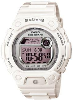 Casio Women's BLX103-7 Baby-G White Resin G-Lide Digital Mirror Dial Sport Watch $68.18