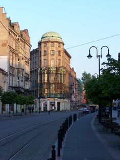 Zabrze, Poland Main Street, Street View, Historical Monuments, World Cities, Central Europe, City Streets, Warsaw, Eastern Europe, Heritage Site