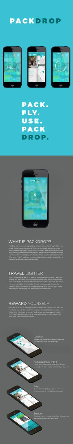PackDrop App by Ryan MacEachern, via Behance