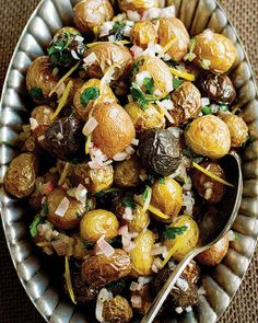 Warm Lemon & Shallot Potato Salad