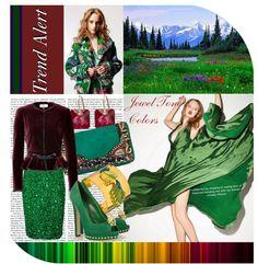 """Fashion Trend Alert: Jewel-Tone Colors"" by christinalauren on Polyvore"