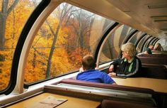 Amtrak Great Dome Train Ride- Scenic Adirondack Train Rides Grab your PSL and take in the fall foliage. Vacation Places, Vacation Destinations, Vacation Trips, Places To Travel, Places To See, Vacation Deals, Domestic Destinations, Vacation Spots, Train Vacations