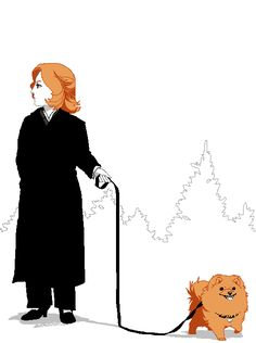 Scully and Queequeg | HedgehogBeeblebrox.deviantart.com on @deviantART #xfiles