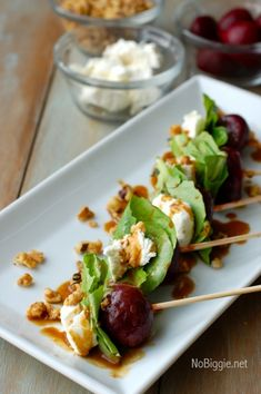 beet salad on a stick. Love this idea and GREAT for summer