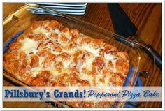 Grands! Pepperoni Pizza Bake #recipe #PillsburyBiscuits #sponsored