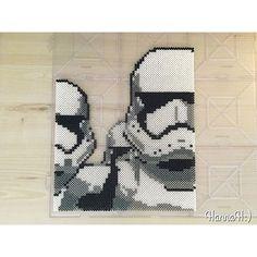 Storm troopers #starwars #perlerbeads #fusebeads #hamabeads