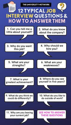 Job Discover Questions You Will Be Asked At Job Interviews! Securing a job would be so much easier if you know the questions a hiring manager will ask in your next interview. Well well give you the next best thing: a list of the most commonly asked ques Typical Job Interview Questions, Behavioral Interview Questions, Job Interview Preparation, Interview Questions And Answers, Job Interview Tips, Customer Service Interview Questions, Hairstyles For Job Interview, Interview Weakness Answers, Preparing For An Interview