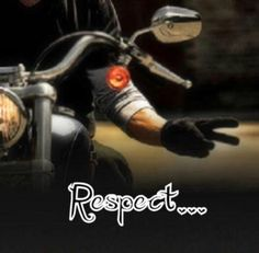 Biker Wave of Respect. (Meanings vary: V-Twin, 2-Wheels, Peace, Victory of the Road, Together)
