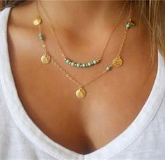 Bohemian Gold Drop Necklace
