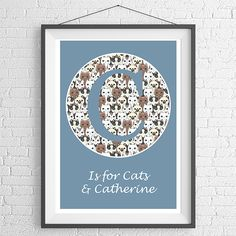 C Is For Personalised Print-Blue | wowthankyou.co.uk £19