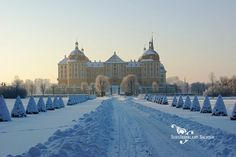 """Moritzburg, just 20 min outside Dresden. Baroque hunting  summer residence of Augustus the Strong, Elector of Saxony  King of Poland. """"Three Wishes for Cinderella"""" Nov 10, 2012-March 3, 2013, walk the trail of the fairy tale princess. http://www.maerchenschloss-moritzburg.de/de/die_austellung/"""