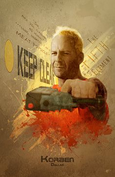 'Korben Dallas' Fifth Element print by DigitalTheory on Etsy