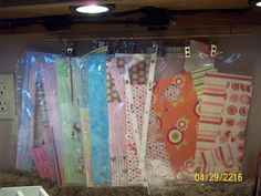 Hello everyone, So do you keep all the scraps of paper that are left over after completing a project? Do you hate to throw away that 1 x Scrapbook Room Organization, Paper Organization, Organizing Ideas, Organize Paper Scraps, Craft Room Storage, Craft Rooms, Storage Ideas, Stamp Storage, Scrapbooking