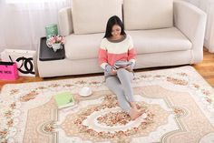 4x6 High Quality Coral Fleece Soft Area Rugs Non Slip Machine Washable Carpet | eBay