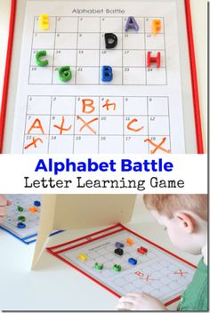 Alphabet Battle Game (free printable)