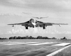 Victor landing at RAF Tengah.