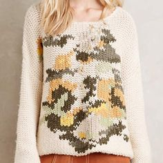 Anthropologie Sweater Mes Demoiselles pullover sweater, gorgeous bohemian piece from Anthropologie. Brand new with tags.  Acrylic, wool, alpaca, polyamide sweaterknit Dry clean Imported Anthropologie Sweaters