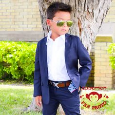 The iconic Appaman Mod Suit in navy. We think it's the coolest ring bearer outfit or just all around dapper stylish suit for boys. Comes in sizes 2T to 14. www.appaman.com