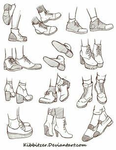 Shoes; How to Draw Manga/Anime