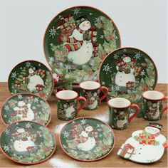 Vintage Snowman Dinnerware - Ice Cream Bowls (Set of & Royal Seasons Christmas Snowman Stoneware 16 Pc Dinnerware Set ...