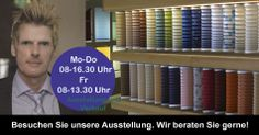 Vor Ort direkt in der Plissee Ausstellung in Hessen 35463 Fernwald-Steinbach bei Giessen an der A5 Frankfurt / Kassel oder online unter myfaltstores.de