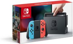 Nintendo Switch Console - Neon Blue and Neon Red Joy Con. Nintendo Switch Neon Blue and Red Joy-Con Console. Nintendo Ds, Buy Nintendo Switch, Nintendo Switch System, Console Nintendo, Nintendo Consoles, Nintendo Store, Games Consoles, Nintendo Systems, Tecnologia