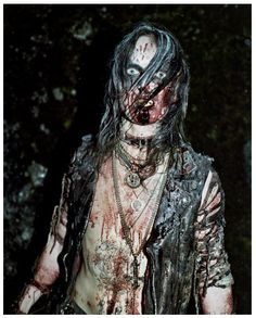 Erik Watain - when I saw Watain playing a couple of years ago I was pushed up against the barriers at the very small venue right in front of him (Ivory Black in Glasgow), and I think I rather drunkenly grabbed his ankle suggestively, after being covered in pig's blood. Hawt.
