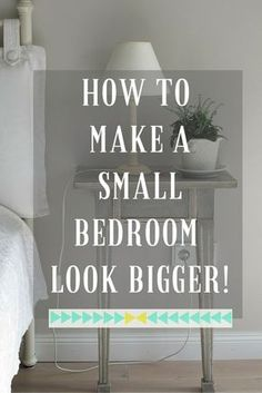 A small bedroom is one of the hardest rooms to decorate but there are tips and tricks that will help it look bigger and give you ideas on how to make the most of the space. Lots of ideas in this post that will really help you.