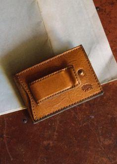 Dakota Two Fold Metal Clip Wallet - Saddle Tan