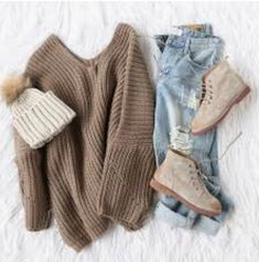 30 Pullover-Outfits - Source by AllesuberFrauenOffical moda juvenil Winter Outfits For School, College Outfits, Holiday Outfits, Fall Winter Outfits, Winter Fashion, School Outfits, College Fashion, Winter Clothes, Sweater Outfits