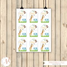 Jungle Safari Party Favor Tag, 1st Birthday Party Decor, Thank You Tags, Gift Tag, Our Little Monkey, Elephant, Personalize Tag, Digital by SquishyDesignsbyMe on Etsy