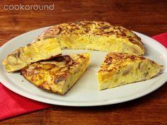 Tortillas di patate funghi e cipolle fantastica e veloce, si prepara in soli 25 minuti !! :)