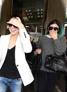 Kendall and Kylie Jenner arriving at Charles de Gaulle Airport in France