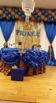 """royal blue"""" prence Baby Shower Party Ideas   Photo 1 of 13"""