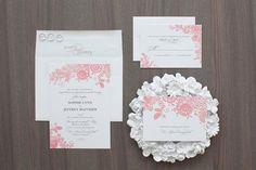Vintage lace wedding invitation suite by http://blushprintables.com