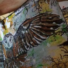Bewust & Gewoon doen Handmade Books, Mixed Media, Collages, Owls, Stamping, Artwork, Craft Books, Montages, Collage