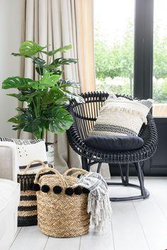 Salontafel retro hout/metaal zwart J-LINE online webshop www.LIVING ...