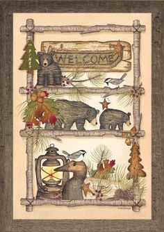 "Summer Snow Lodge Welcome By Artist Linda Spivey 16"" x 22"" Barnwood Glitter Summer Snow http://www.amazon.com/dp/B00K6Q8WSK/ref=cm_sw_r_pi_dp_EPl1vb11SBN7A"