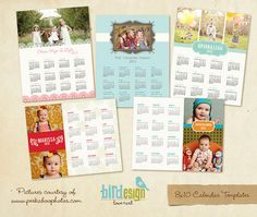 INSTANT DOWNLOAD 8x10 2013 Calendars set psd por birdesign