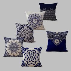 Cushion Cover Bohemian Style Cotton linen Blend Cushions Sofa Chair Cushion Square Size Decorative Pillow capa de almofada