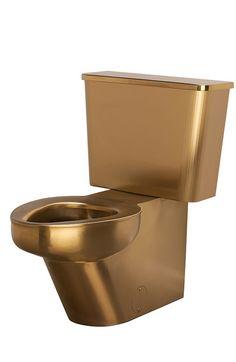 Gold Luxury Toilet by Neo-Metro #goldtoilet #luxury #customdecor